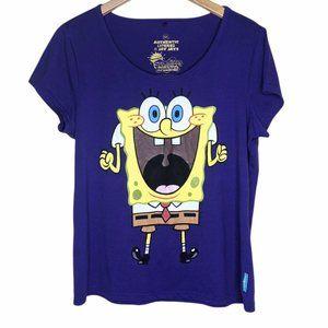 Jay Jays Spongebob purple t-shirt size XXL